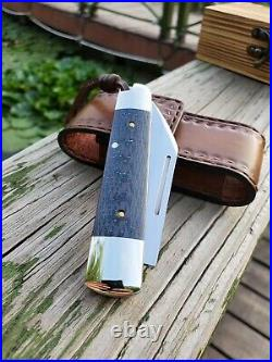Sandvik Steel Blade Folding Knife Tactical Outdoor Camping EDC Tool with Sheath