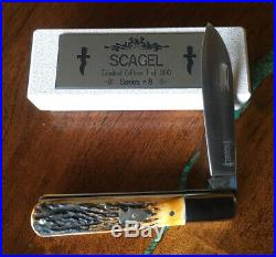 Scagel Custom Folder Series #8 With Stag Handles