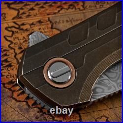 Shirogorov 111 Damascus Custom Division Titanium Handle Collectible Knife