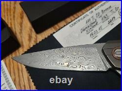 Shirogorov Custom Division 111 Ti Bronze CD Damascus