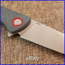 Shirogorov F3 Elmax Gray/Red G10 Texturized