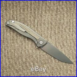 Shirogorov F95NL Elmax Titanium/Green-micarta