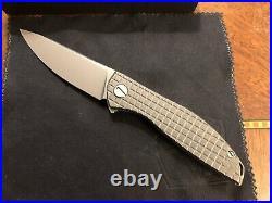 Shirogorov Knives NeOn Zero FRAG Pattern Natural Tumbled