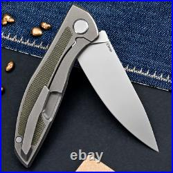 Shirogorov Neon Nl Elmax Blade Micarta Green Edc Knife Video