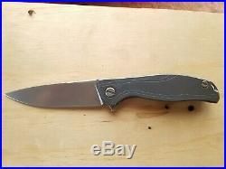 Shirogorov knives F95R Vanax 37 Blade Blue Anodized Titanium Handle MRBS