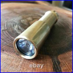 Sigma Customs Regulus Torch Flashlight Bronze Single LED 18350 rechargeable batt