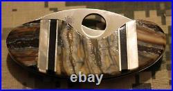 Spyderco Cricket Santa Fe Stoneworks C29P C29PSF MOP Fossilized Tooth Jet Onyx