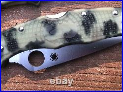 Spyderco Exclusive Endura 4 Knife Zome Limited Glow-in-dark Handle