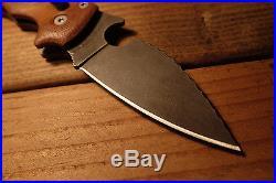Spyderco MANIX 2 Custom Canvas Micarta Stonewashed Knife, Wave