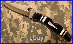 Spyderco Santa Fe Stoneworks C10P C10PSF MOP Black Onyx Endura 4 One of 25 Made