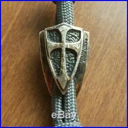 Steel Flame Crusader Bead Sterling Silver