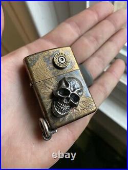 Steel Flame Custom Darkness Zippo Lighter