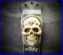 Steel Flame Darkness Skull Clip with Torched Finish (Emerson Knives or similar)