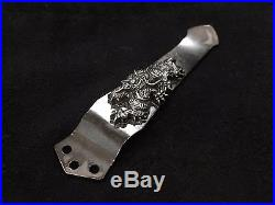 Steel Flame Dragon in Silver for Emerson, Les George and Benchmade Knives