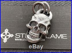 Steel Flame XL Darkness Skull Pendant Silver Brand new