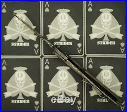 Strider CC CF SnG Carbon Fiber Concealed Carry Tiger Stripe Titanium Flame