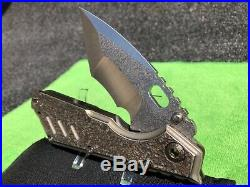 Strider Custom XL fully textured folding knife tanto blade