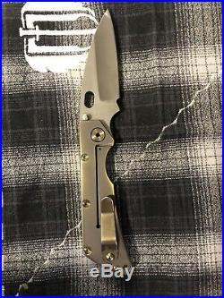 Strider Knives DDC SMF Stonewashed Full Ti 3 Hole Used Duane Dwyer S30V