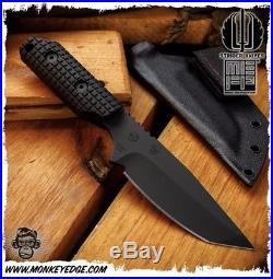 Strider Knives DUB-L Black Monkey Edge FRAG pattern3v Actual Pics As Well
