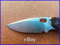 Strider Knives SNG Crosshatch Hybrid Dagger Grind, Flamed Titanium