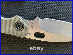 Strider Knives vintage SnG Green Lego G-10 Stonewashed 3/4 grind excellent