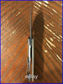 Strider SJ-75 Baby Huey black DLC blade tan G-10 scale with Ti lock side knife