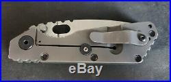 Strider SMF Blasted Lockside withGreen G10 Reground Slicer