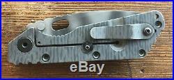 Strider SMF CPM 154 G10 Titanium Spear Point Knife Tiger Stripe Framelock Desert