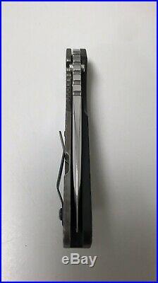 Strider SMF Knife G-10 S30V Stonewashed Blade Titanium Pivot Tool Gray Precision