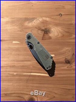 Strider SNG Folding Knife, Clip Point, 154CM Steel, Tritium Screws