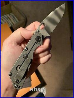 Strider SNG Tiger Stripe Blade Flamed TI- Mick Strider Knives MSC Titanium