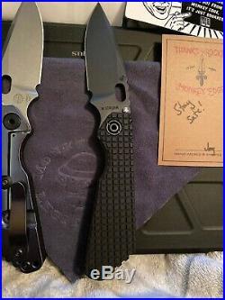 Strider Sng Collection Frag And 3v And Orange Peel Cpm 20cv. 2 Knives