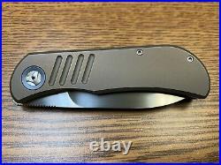 TBC EXK SFL Trevor Burger Bronze Titanium Front Flipper M390 (2.75 Satin)