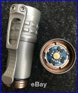 Ti2 Design & CWF Charles Wiggins Custom Pele Torch Flashlight Blue Dragon NEW
