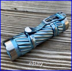 Ti2 Design & CWF Charles Wiggins PELE Custom Torch Flashlight Titanium