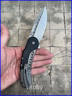 Todd Begg Custom Knives Flipper Pocket Knife Field Grade Bodega Black G10