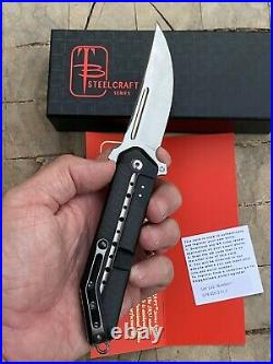 Todd Begg Kwaiken 3/4 Flipper Folder Steelcraft Series Black Ti & Carbon Fiber