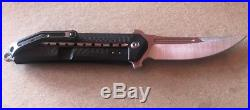 Todd Begg Steelcraft 3/4 Kwaiken Flipper Knife CF/Black Ti (3.5 Satin)