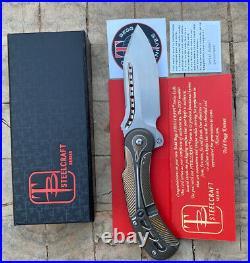 Todd Begg Steelcraft Knives Field Marshall Flipper Folding Pocket Knife Bronze