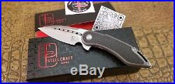 Todd Begg Steelcraft Mini Glimpse CF TITANIUM Knife CPM S35VN steel Blade EDC