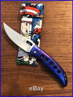 Tom Mayo Hawaii Timascus / 6k Stellite Persian Custom Folding Knife