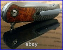 Trevor Burger Custom Atlas Plus Flipper with Carbon Fiber and Maple Burl Cerami