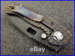 Trouble Blades Mini MOFO, CRU-WEAR, Frag Pattern, Strider, Rare Custom Knife