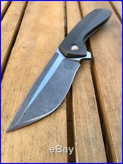Tuff Knives Geoff Blauvelt One Off Custom Catalyst Mokume Titanium Flipper