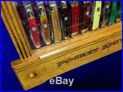 Vintage Winchester Pocket Knife Display Case Antique Knives Counter Top Display