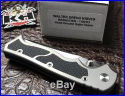 Walter Brend Knives Marauder Tanto Hand Ground Satin Finish Unused In Box