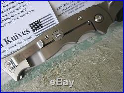 Walter brend knife hand ground/high polish custom marauder folder withpearl inlay