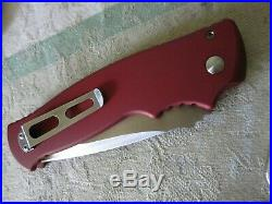 Walter brend m2 prototype triple grind folding knife. Rare red handle