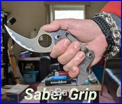 Warren Thomas Knife, Rhino Fighter, Ti Frame, Carbide Edged Blade, Very Rare