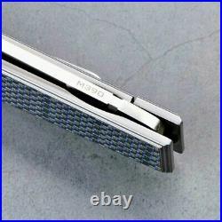 Wharncliffe Folding Knife Pocket Hunting Survival M390 Steel Titanium Handle EDC